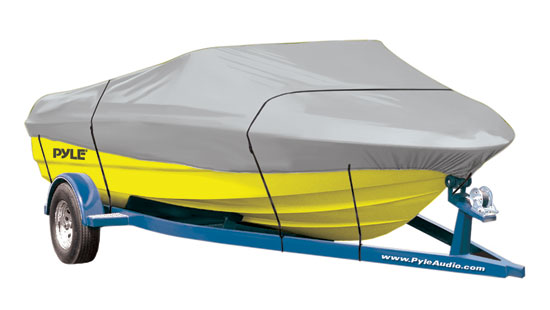 Pyle - PCVHB221 , Marine and Waterproof , Protective Storage Covers , On the Road , Protective Storage Covers , Armor Shield Trailer Guard Boat Cover 14'-16'L Beam Width to 90'' Aluminum Bass Boats, V-Hull, & Tri-Hull Runabouts Outboards & I/O