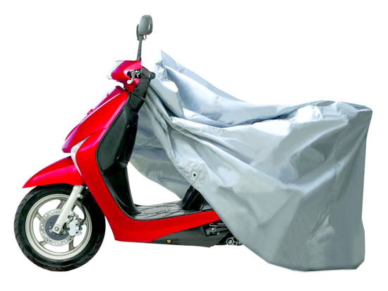 Pyle - PCVSC40 , Marine and Waterproof , Protective Storage Covers , On the Road , Protective Storage Covers , Armor Shield Scooter Cover Fits Scooters up to 48'' Length (Silver Color)