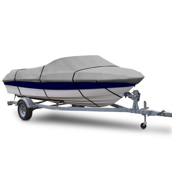 Pyle - PCVSPB334 , Marine and Waterproof , Protective Storage Covers , On the Road , Protective Storage Covers , Armor Shield Trailer Master Boat Cover 20'-22'L Beam Width to 106'' V-Hull Runabouts Outboards & I/O