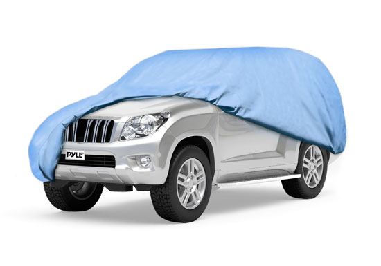Pyle - PCVSUV192 , Marine and Waterproof , Protective Storage Covers , On the Road , Protective Storage Covers , Armor Shield SUV Cover Fits SUV Upto 19' in Overall Length