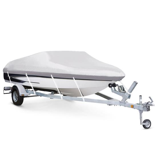 Pyle - PCVTB113 , Marine and Waterproof , Protective Storage Covers , On the Road , Protective Storage Covers , Armor Shield Boat Cover 16'-18.5'L Beam Width to 98'' Fish, Ski Boats, & Pro Style Bass Boats