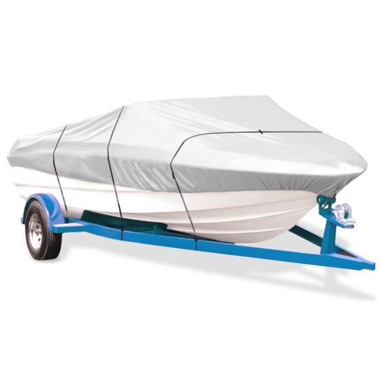 Pyle - PCVTB114 , Marine and Waterproof , Protective Storage Covers , On the Road , Protective Storage Covers , Armor Shield Boat Cover 17'-19'L Beam Width to 102'' V-Hull Runabouts Outboards & I/O