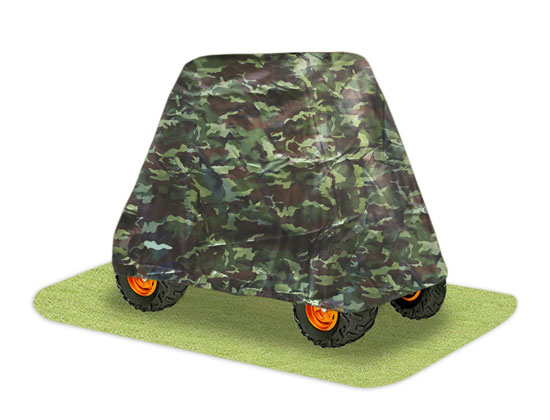Pyle - PCVUTV13 , Sports & Outdoors , Protector covers , Armor Shield 4 x 4 UTV Utility Vehicle Storage Protective Indoor/Outdoor Cover, Fits Vehicles up to  110'' Long, Camo Color (Fits Vehicles without Cabin/Rollbar/Roof)