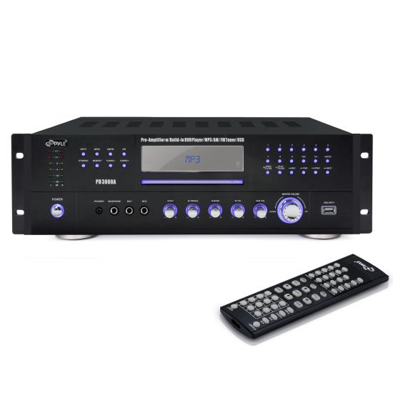 Pyle - PD3000A , Home Audio / Video , Active Electronics , 3000 Watt  AM-FM Receiver w/ Built-In Multimedia Disc/MP3/USB
