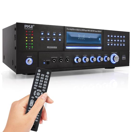 Pyle - PD3000BA , Sound and Recording , Amplifiers - Receivers , Bluetooth Home Theater Preamplifier - Audio/Video Receiver System with Multimedia Disc Player, AM/FM Radio, MP3/USB Reader (3000 Watt)