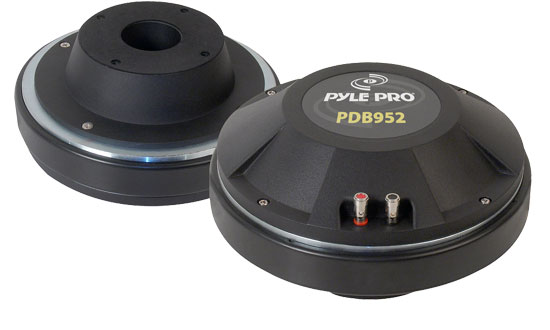 Pyle - PDB952 , Sound and Recording , Tweeters - Horn Drivers , 4'' Titanium 8 Ohm Horn Bolt On Driver