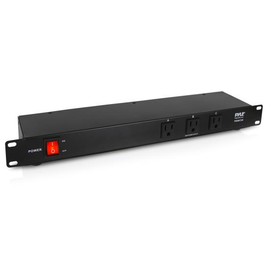 Pyle - PDBC50 , Home and Office , Power Supply - Power Converters , 15 Amp Power Supply PDU Power Strip with 9 Outlets 1800VA Rack Mountable