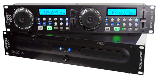 Pyle - PDCD212 , Sound and Recording , SoundBars - Home Theater , Professional Dual DJ Player W/Anti Shock Function