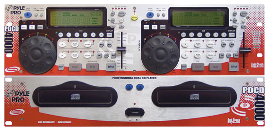 Pyle - PDCD4000 , DJ Equipment , Professional CD / SD MP3 Players , Professional Dual CD Player with DSP and Sampler