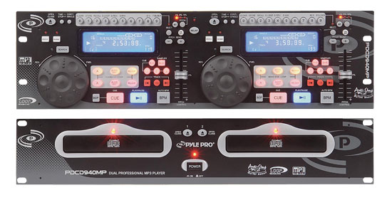 Pyle - PDCD940MP , DJ Equipment , Professional CD / SD MP3 Players , Professional Dual CD/MP3 Player w/ Scratch Effect