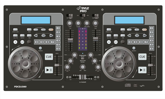 Pyle - PDCDJ380 , Sound and Recording , SoundBars - Home Theater , Professional Dual CD Player & DJ Mixer