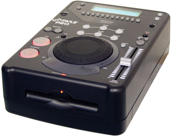 Pyle - PDCDTP500 , DJ Equipment , Professional CD / SD MP3 Players , Professional DJ Tabletop CD Player with Jog Dial