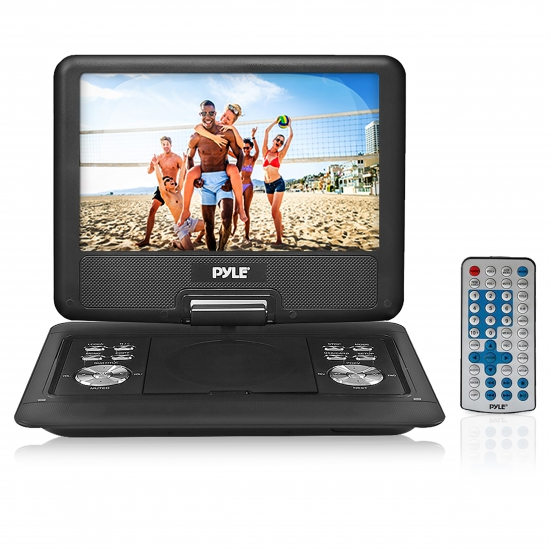 Pyle - PDH14 , Home and Office , Portable DVD Players , 14'' -Inch Portable Multimedia Disc Player, Hi-Re Widescreen Display with Built-in Rechargeable Battery, USB Flash & SD Card Readers