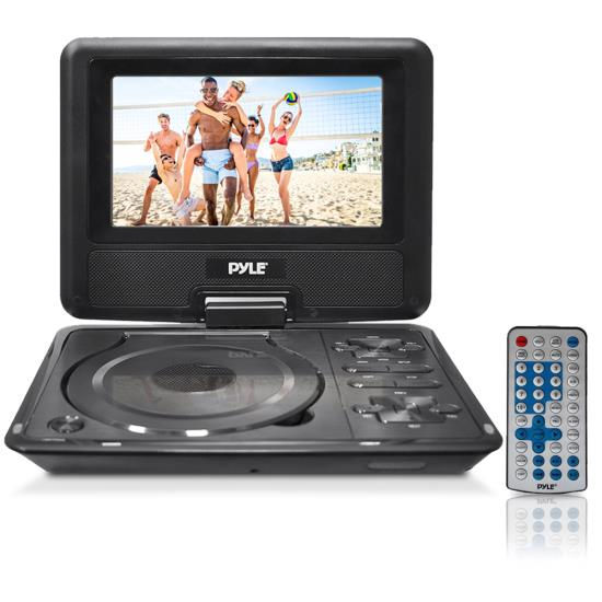Pyle - PDH7 , Home and Office , Portable DVD Players , 7'' Widescreen High Resolution Portable Monitor w/ Built-In Multimedia Disc, MP3, MP4 Players, USB Port & SD Card Slot Readers