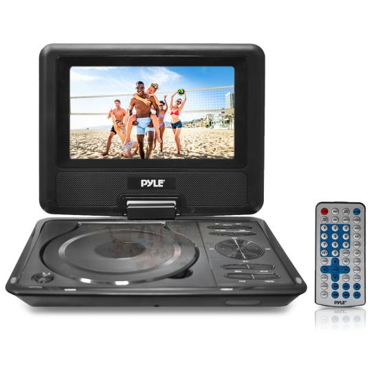 Pyle - PDH9 , Home and Office , Portable DVD Players , 9'' Widescreen High Resolution Portable Monitor w/ Built-In Multimedia Disc, MP3, MP4 Players, USB Port & SD Card Slot Readers