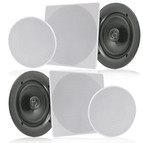 "Pyle - UPDIC1666 , Sound and Recording , Home Speakers , 6.5"" In-Wall / In-Ceiling Speakers, 2-Way Flush Mount Home Speaker Pair, 200 Watt"