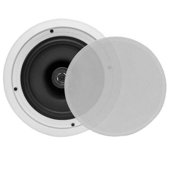 Pyle - PDIC81RD , Sound and Recording , Speakers , In-Wall / In-Ceiling Dual 8-inch Speaker System, 2-Way, Flush Mount, White