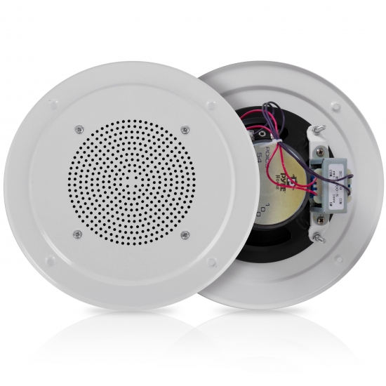 Pyle - PDICS54 , Sound and Recording , Speakers , 5'' Full Range In Ceiling Speaker System W/Transformer