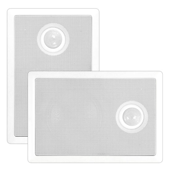 Pyle - PDIW52 , Sound and Recording , Home Speakers , In-Wall / In-Ceiling Dual 5.25'' Speaker System, Directional Tweeter, 2-Way, Flush Mount, White