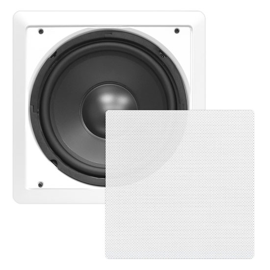 Pyle - PDIWS12 , Home Audio / Video , In-Wall/Ceiling Speakers , In-Wall / In-Ceiling 12'' High Power Subwoofer System, DVC, Flush Mount, White, Single Speaker