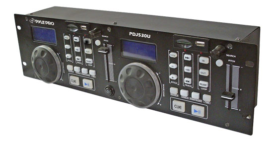 Pyle - PDJ350U , DJ Equipment , Professional CD / SD MP3 Players , Professional DJ MP3/USB/SD Card Player