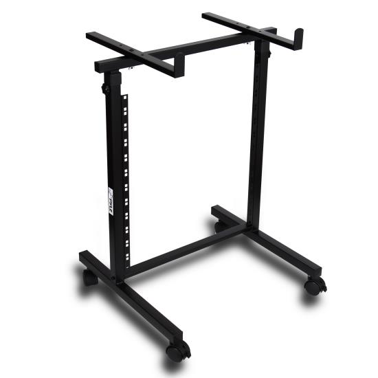 Pyle - PDJSD2 , Musical Instruments , Mounts - Stands - Holders , Sound and Recording , Mounts - Stands - Holders , 12U - 2 Post Open Frame Rack Shelf + Equipment/Device Stand