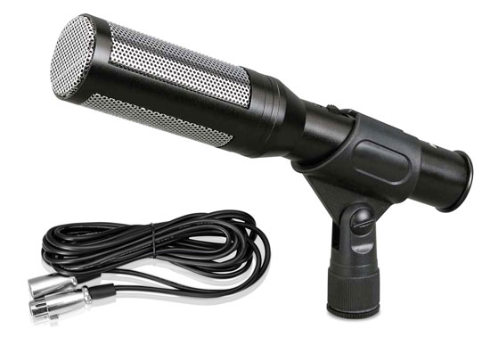Pyle - PDMIC35 , DJ Equipment , Microphones , Electret Condenser Shotgun Microphone with 16 ft. XLR to 1/4'' Cable & Windscreen