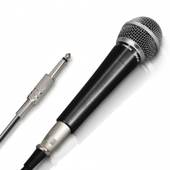 Pyle - PDMIC58 , DJ Equipment , Microphones , Professional Moving Coil Dynamic Handheld Microphone