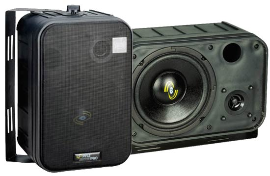 Pyle - PDMN58 , Home Audio / Video , Speakers , 6.5'' Two-Way Bass Reflex Mini-Monitor System & Bookshelf/wall mount Speakers