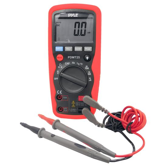 Pyle - PDMT25 , Disc , Digital Multimeter with Voltage, Current, Resistance, Duty Cycle, Temperature, Frequency, and Capacitance