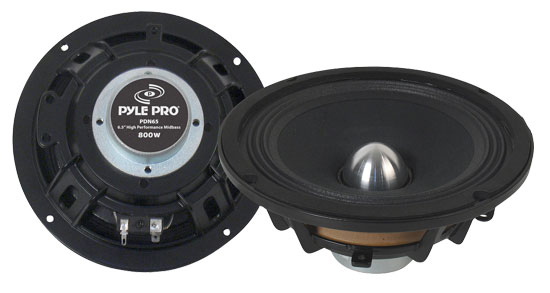 Pyle - PDN65 , DJ Equipment , Midbass/Midrange Speakers/Woofers  , 6.5'' High Power High Performance Midbass