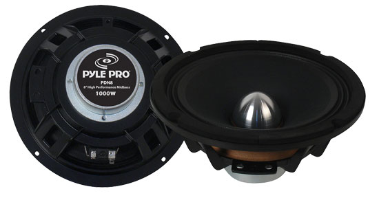 Pyle - PDN8 , Sound and Recording , Subwoofers - Midbass , 8'' High Power High Performance Midbass