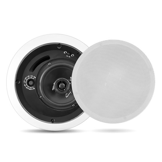 Pyle - PDPC5T , Sound and Recording , Home Speakers , In-Wall / In-Ceiling 5'' Enclosed Speaker System, 70 Volt Transformer, Rotary Tap Select, Flush Mount, 200 Watt, Single Speaker