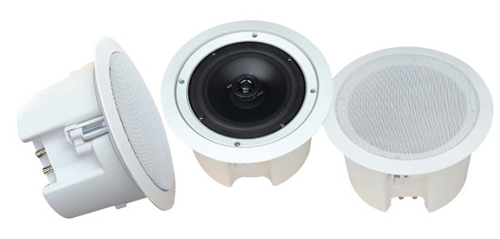 Pyle - PDPC62 , Sound and Recording , Speakers , In-Wall / In-Ceiling 6.5'' Dual Enclosed Speaker System, Directable Tweeter, Flush Mount, 200 Watt