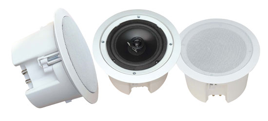 Pyle - PDPC82 , Sound and Recording , Home Speakers , In-Wall / In-Ceiling 8'' Dual Enclosed Speaker System, Directable Tweeter, Flush Mount, 250 Watt
