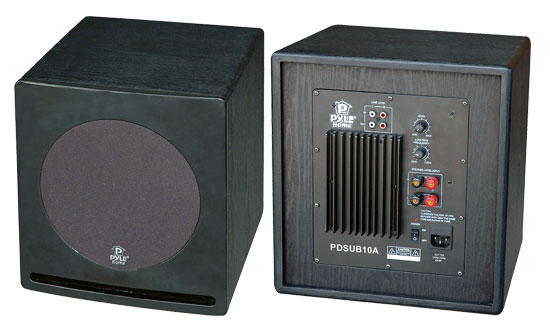 Pyle - PDSUB10A , Home Audio / Video , Home Theater Systems , 10'' 400 Watt Front-Firing Powered Subwoofer