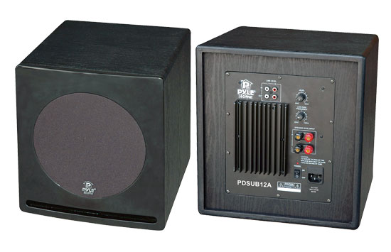 Pyle - PDSUB12A , Home Audio / Video , Home Theater Systems , 12'' 500 Watt Front-Firing Powered Subwoofer