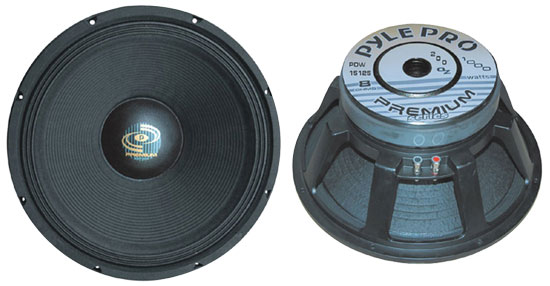 Pyle - PDW15125 , DJ Equipment , Premium Replacement  Woofers , 15'' Performance Optimized  High Power Subwoofer