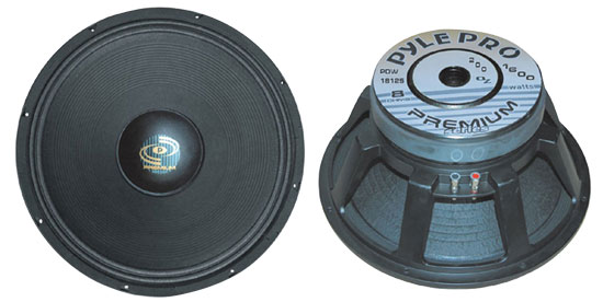 Pyle - PDW18125 , DJ Equipment , Premium Replacement  Woofers , 18'' Performance Optimized  High Power Subwoofer