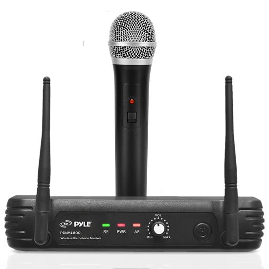 Pyle - PDWM1800 , DJ Equipment , Wireless Microphones , Premier Series Professional UHF Wireless Handheld Microphone System