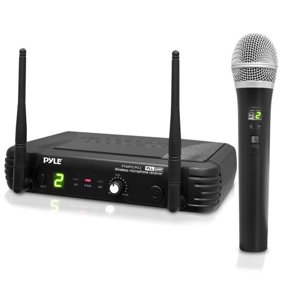 Pyle - PDWM1902 , DJ Equipment , Wireless Microphones , Premier Series Professional UHF Wireless Handheld Microphone System with Selectable Frequencies