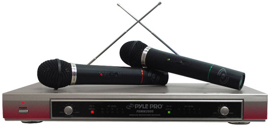 Pyle - PDWM2000 , DJ Equipment , Wireless Microphones , Dual VHF Wireless Microphone System