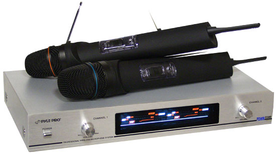 Pyle - PDWM2300 , Sound and Recording , Microphone Systems , Dual VHF Wireless Microphone System