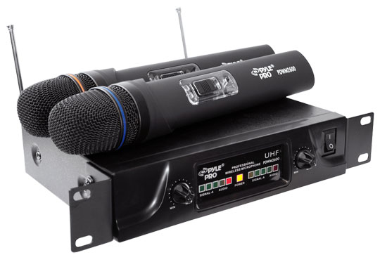 Pyle - PDWM2600 , DJ Equipment , Wireless Microphones , Dual UHF Wireless Microphone System