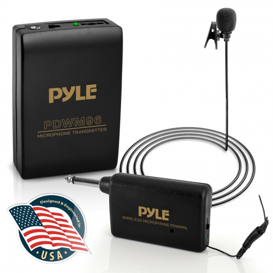 Pyle - PDWM96 , Musical Instruments , Microphone Systems , Sound and Recording , Microphone Systems , Lavalier Wireless Microphone System