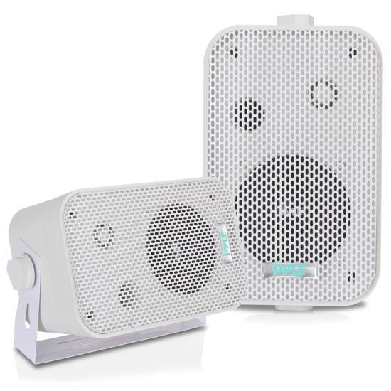 Pyle - PDWR30W , Used , 3.5'' Indoor/Outdoor Waterproof On-Wall Speakers (White)