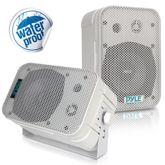 "Pyle - PDWR40W , Marine and Waterproof , Weatherproof Speakers , 5.25"" Indoor/Outdoor Waterproof Speakers (White)"