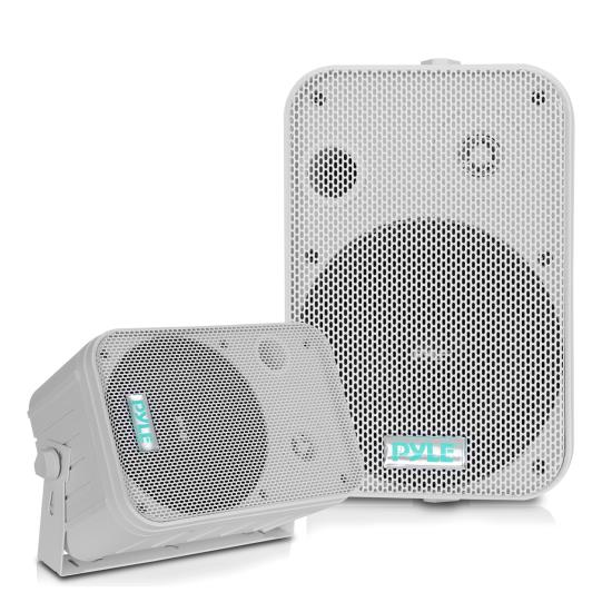 "Pyle - PDWR50W , Home and Office , Speakers , Sound and Recording , Speakers , 6.5"" Indoor/Outdoor Waterproof Speakers (White)"