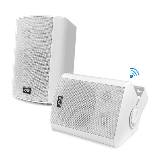 Pyle - UPDWR51BTWT , Home and Office , Home Speakers , Wall Mount Waterproof & Bluetooth 5.25'' Indoor / Outdoor Speaker System, White
