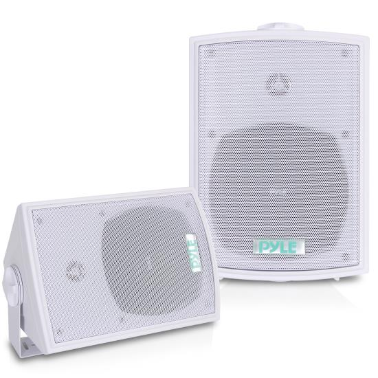 Pyle - PDWR53 , Marine and Waterproof , Weatherproof Speakers , 5.25'' Indoor/Outdoor Waterproof Wall Mount Speakers